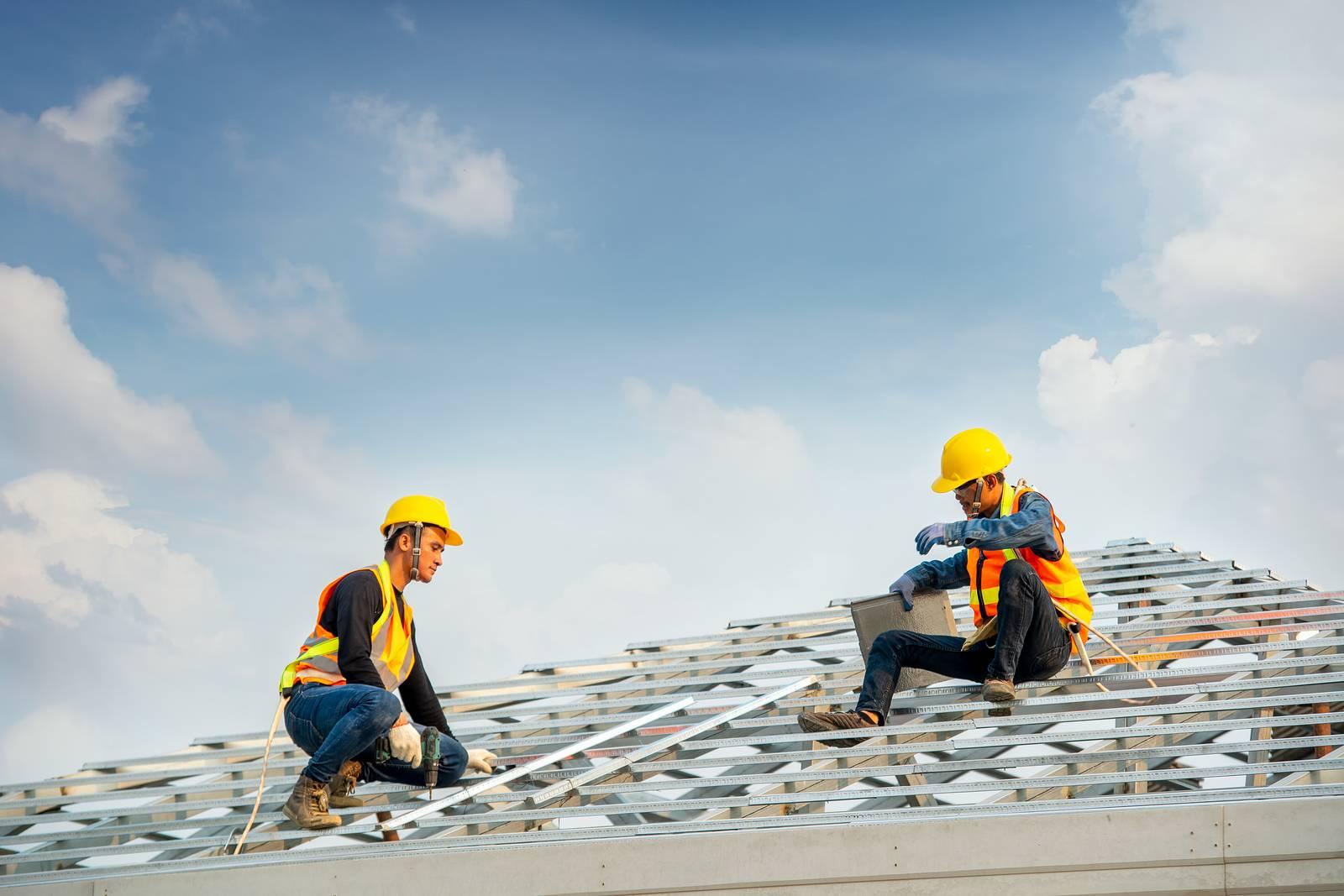 Preparação instalação telha